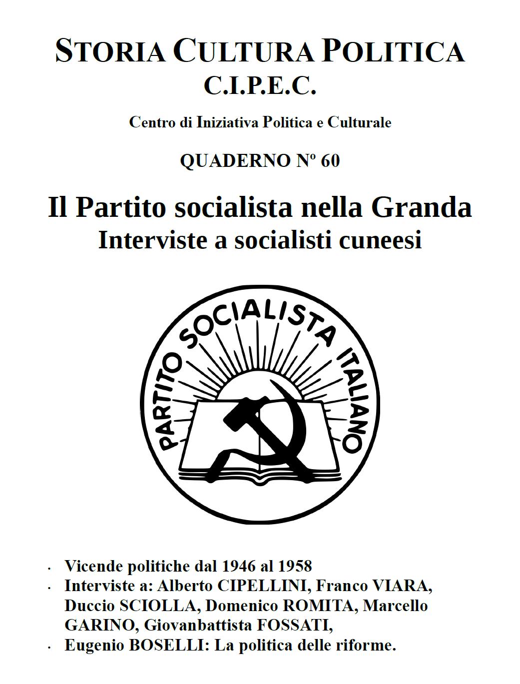 Quaderno CIPEC Numero 60
