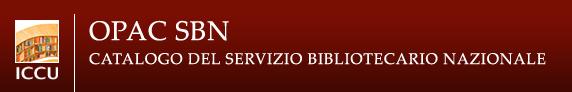 OPAC SBN Catalogo del servizio bibliotecario nazionale