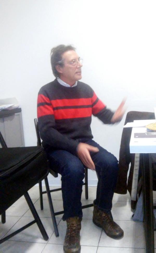 Franco Di Giorgi alla sede ANPI di Ivrea 6 dicembre 2018