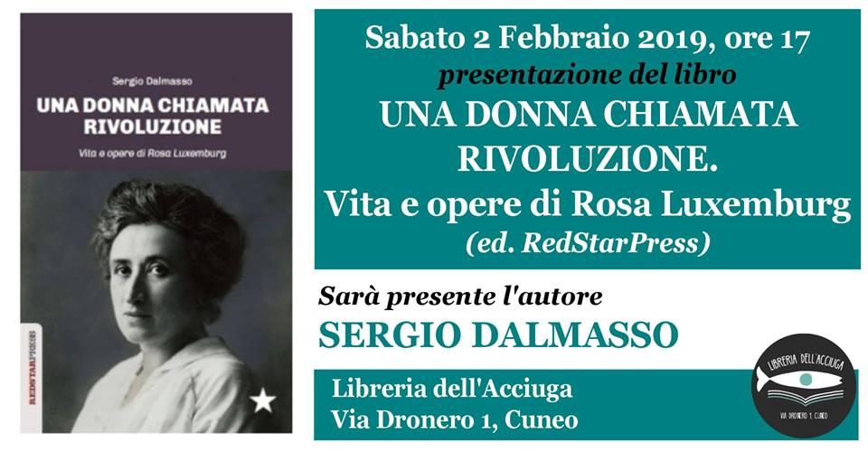 Promozione evento presentazione libro alla Libreria dell'Acciuga di Cuneo