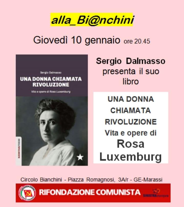 Evento presentazione libro Rosa Luxemburg alla Bianchini di Genova Marassi