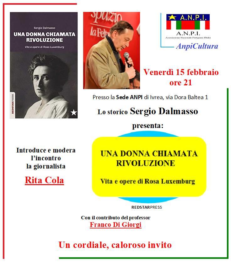 Locandina presentazione libro Dalmasso all'ANPI IVREA di Mario Beiletti