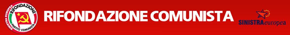 Banner del sito web ufficiale del Partito della Rifondazione Comunista