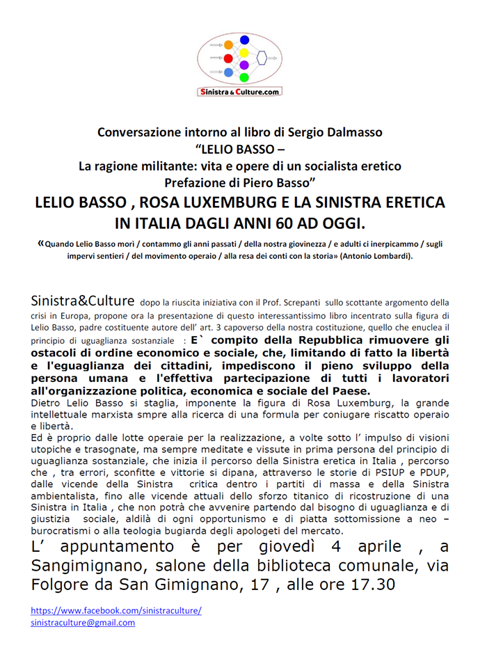 Lelio Basso San Gimignano