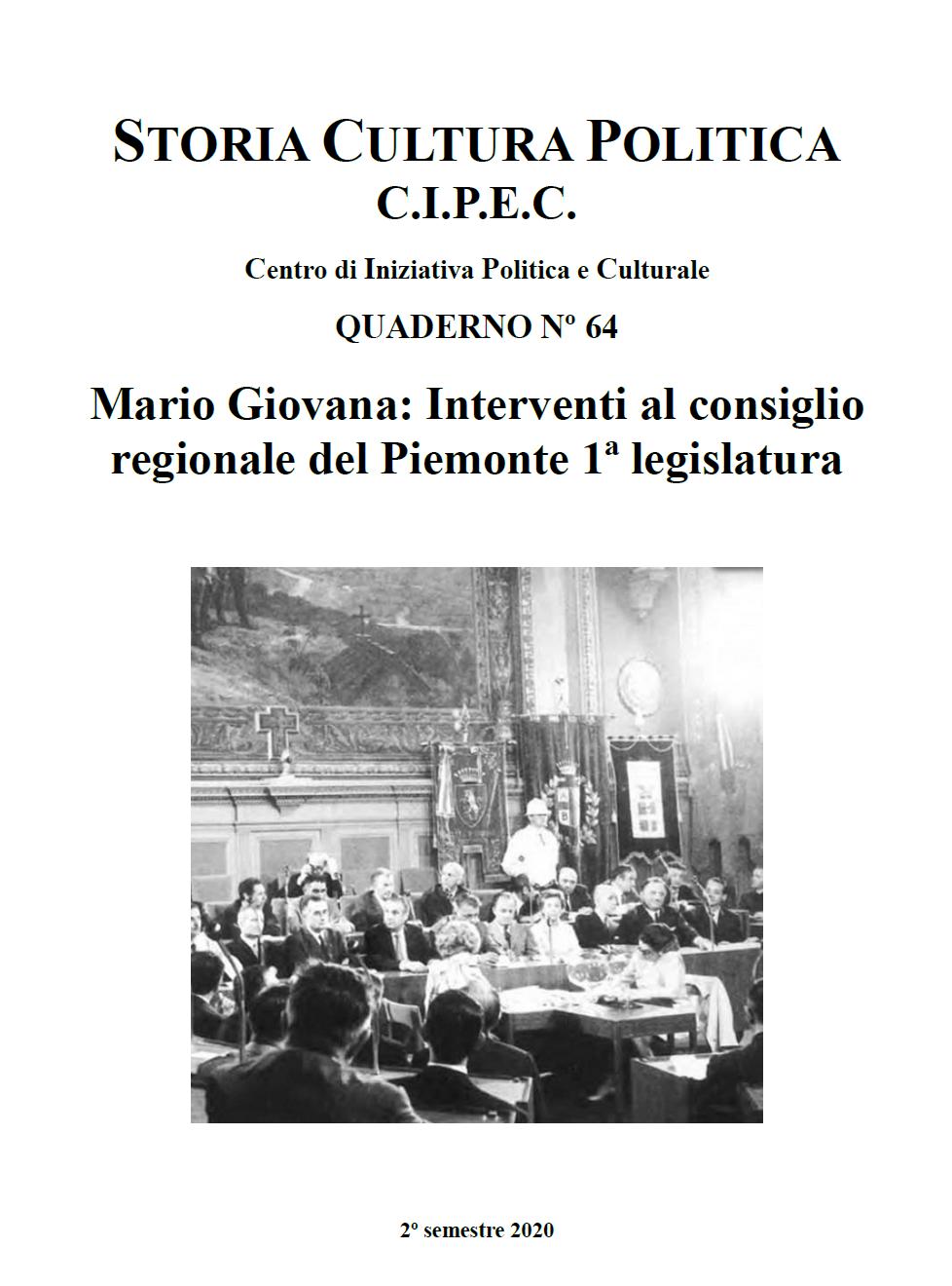 Quaderno N. 64 copertina CIPEC