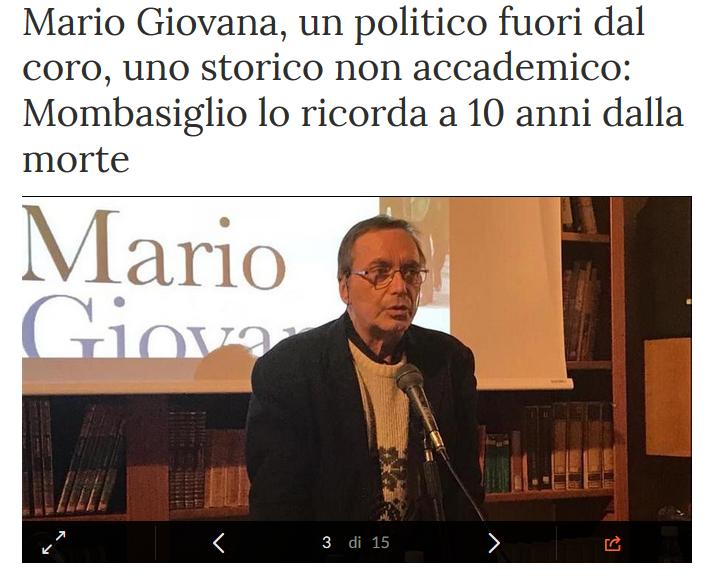 Sergio Dalmasso ricorda Mario Giovana