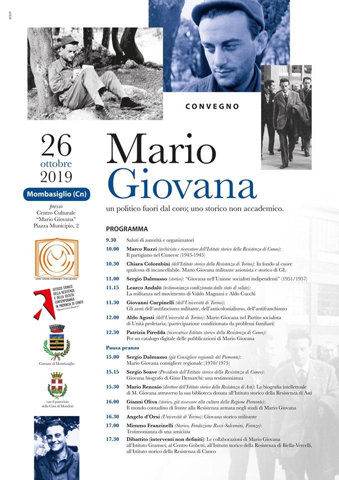 Convegno Mario Giovana un politico fuori dal corso, uno storico non accademico