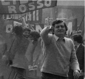Addio Moioli - Vittorio Moioli durante una manifestazione