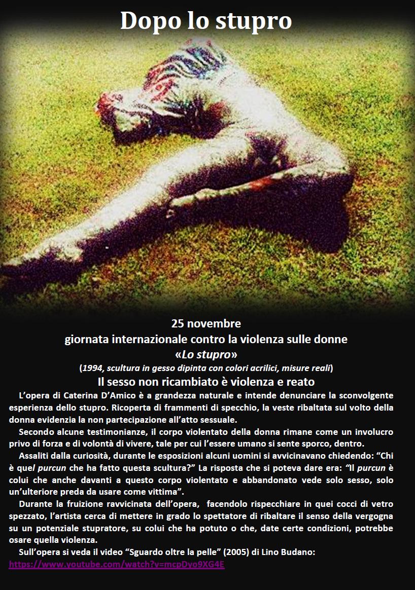 No violenza, Lo stupro, opera di Caterina D'Amico
