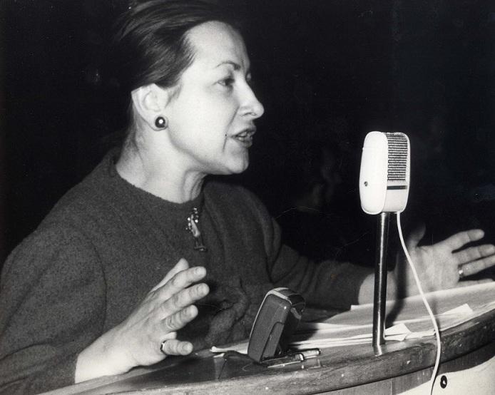 Lidia Menapace negli anni Sessanta