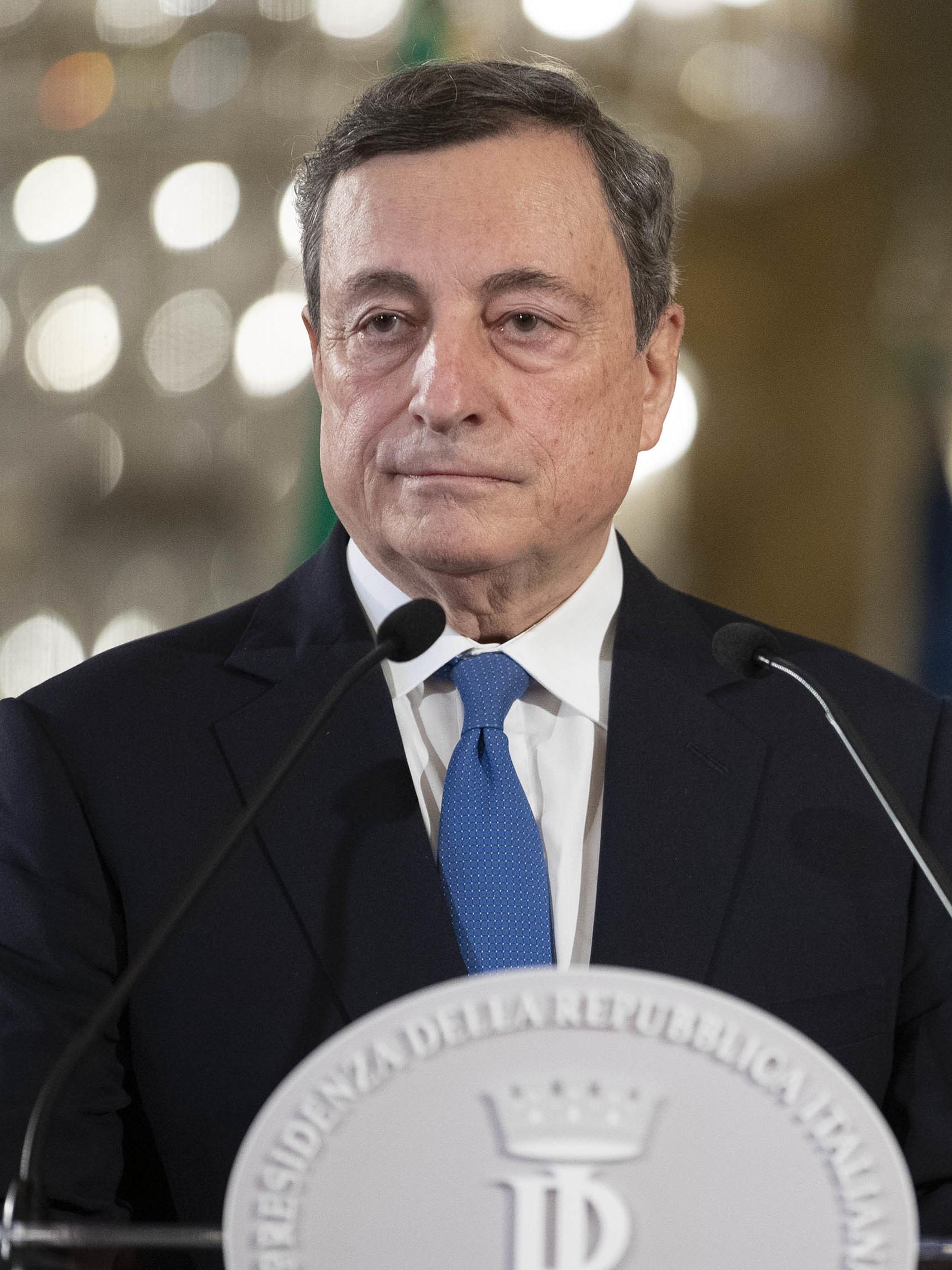 Mario Draghi Presidente del consiglio italiano